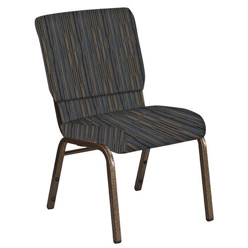 Flash Furniture - 18.5''W Church Chair in Canyon Sky Fabric - Gold Vein Frame
