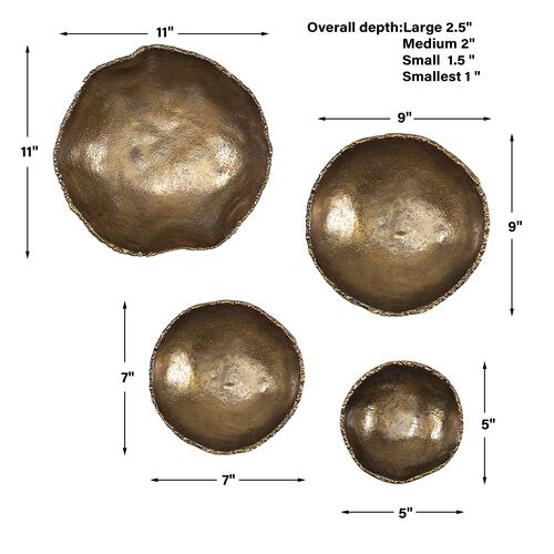 Uttermost - Lucky Coins Metal Wall Decor, S/4
