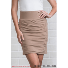 Body Esteem Scrunch Skirt Neutral - Black/XXL (2 pc. ppk.)