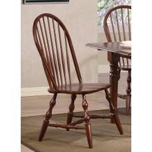 Windsor Spindleback Dining Chairs - Chestnut (Set of 2)