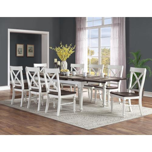 Mountain Retreat Dining Chair, Dark Mocha & Antique White D601-20-09