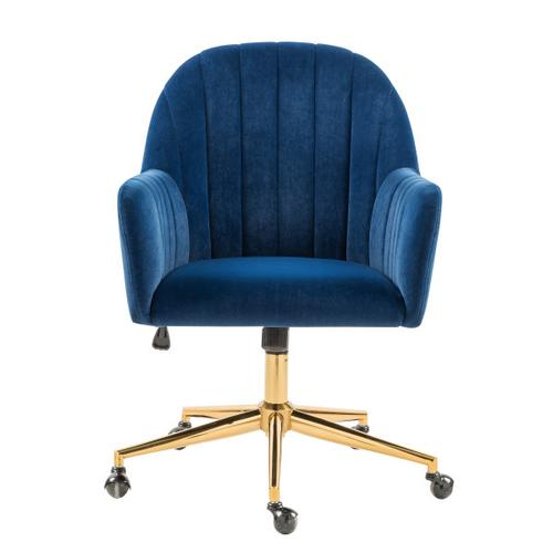 Channeled Back Office Chair in Navy