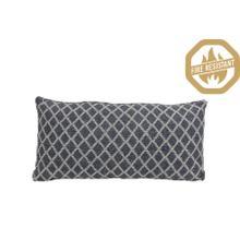 "66821680FR - ARABE Geometric Pillow Natural+Blue, Poly Fill, 24""x12"""