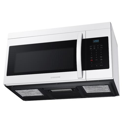 Samsung - 1.6 cu. ft. Over-the-Range Microwave with Auto Cook in White