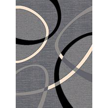 See Details - CONT-40 GRAY Contemporary Abstract Oval Rug