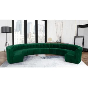 "Limitless Modular Velvet 11pc. Sectional - 173"" W x 135"" D x 31"" H"