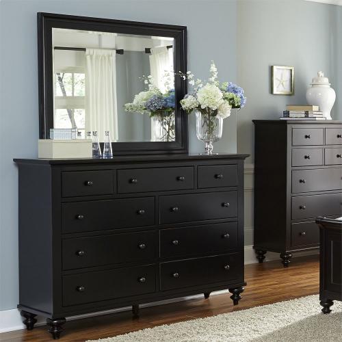 Liberty Furniture Industries - Queen Storage Bed, Dresser & Mirror