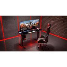 View Product - Hanover 27-In. Wide Electric Sit or Stand Gaming Desk with Adjustable Heights, HGD0504-BLK