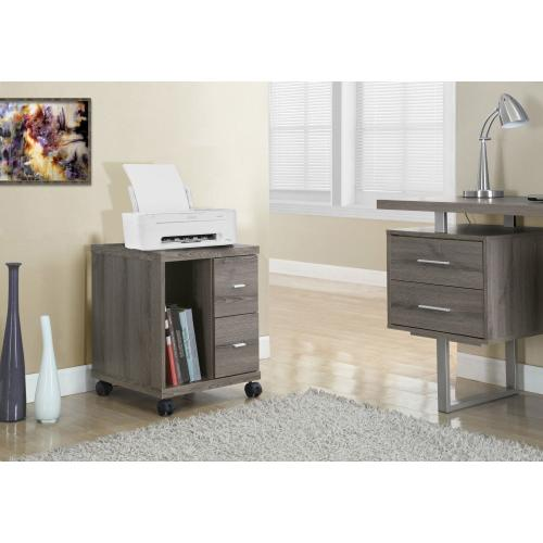 Gallery - OFFICE CABINET - DARK TAUPE WITH 2 DRAWERS ON CASTORS