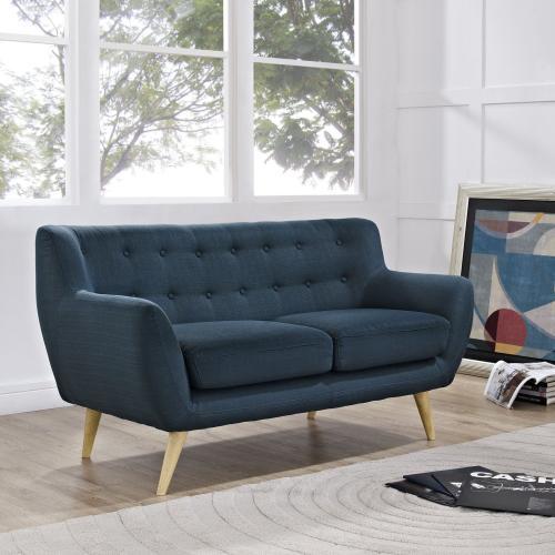 Modway - Remark Upholstered Fabric Loveseat in Azure