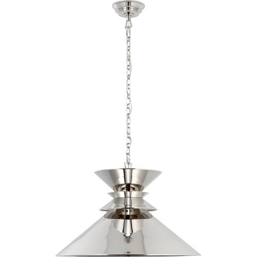 Visual Comfort CHC5245PN-PN E. F. Chapman Alborg 1 Light 24 inch Polished Nickel Pendant Ceiling Light, Large Stacked