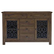 Hawkins Sideboard, Warm Walnut Finish