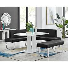 Amanda 3 Piece Black Rectangular Dining Set