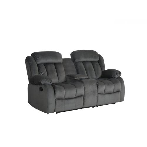 Reclining Loveseat w/Console - Charcoal (Madison Collection)