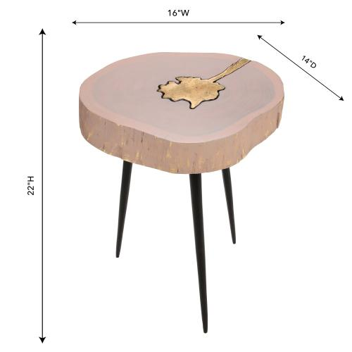 Tov Furniture - Timber Pink and Brass Side Table