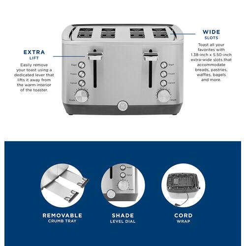 GE Appliances - GE 4-Slice Toaster