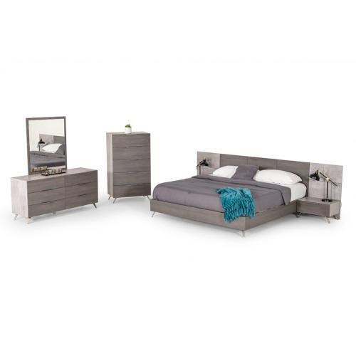 Nova Domus Bronx Italian Modern Faux Concrete & Grey Dresser