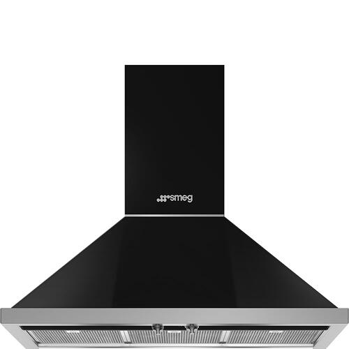 "36"" Portofino Chimney Hood, Black"