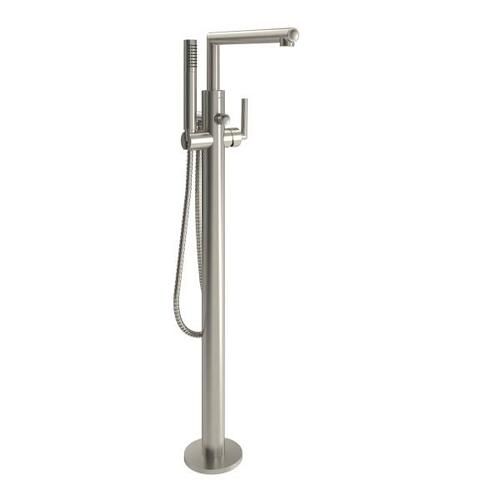 Arris brushed nickel one-handle tub filler includes hand shower