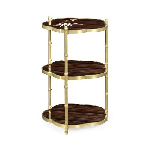 Bamboo Three-Tier End Table