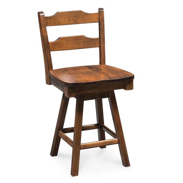 "See Details - Rachel Swivel Barstool, 30"" Seat Height / Fabric Cushion Seat"