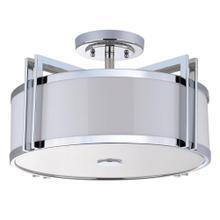 Orb 3 Light Chrome 17-inch Dia Semi Flush - Chrome