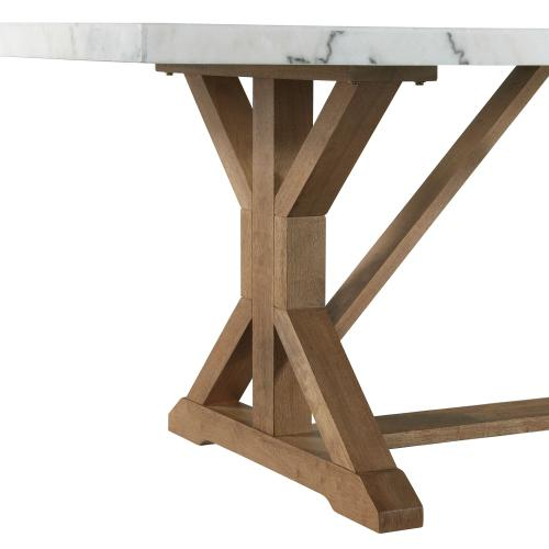 Lakeview White Marble Standard Height Rectangular Dining Table