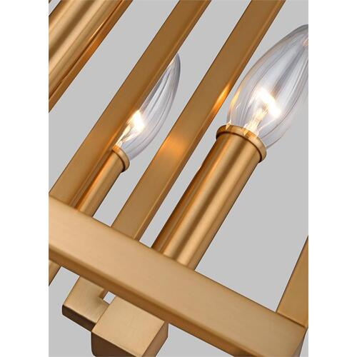 Conant Small Lantern Gilded Satin Brass