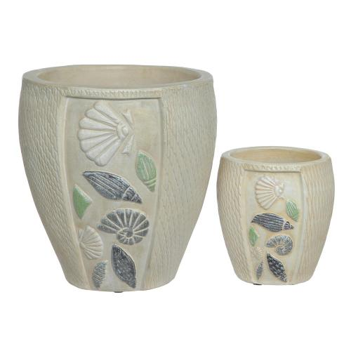 Crestview Collections - Antique Shell Vases