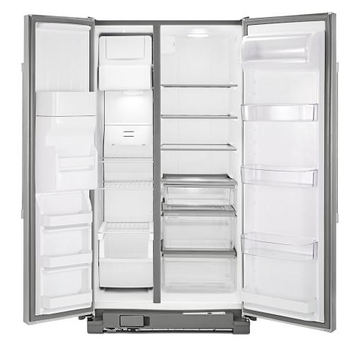 Maytag - 36-inch Wide Side-by-Side Refrigerator with External Ice and Water - 25 cu. ft.