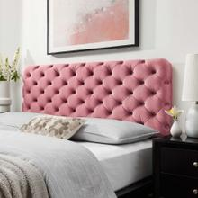 Lizzy Tufted King/California King Performance Velvet Headboard in Dusty Rose