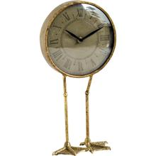Chadwick Antiqued Brass Duck Leg Table Clock
