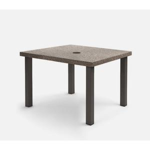"""42"""" Square Cafe Table (with Hole) Ht: 30.25"""" Post Aluminum Base (Model # Includes Both Top & Base)"""