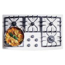 """See Details - GE Monogram® 36"""" Gas on Glass Cooktop"""