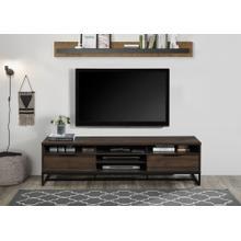 """See Details - 2019 DARK WALNUT Faux Wood TV Stand - 71"""" L"""