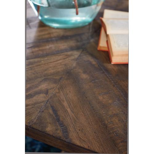 TABLE,COFFEE IRON TRESTLE SHOP