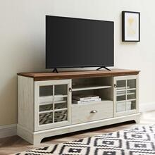 """Pacific 59"""" TV Stand in Walnut White"""