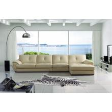 Divani Casa 3992 Modern Cream Leather Sectional Sofa