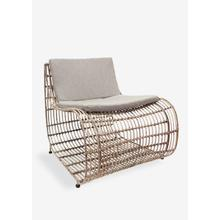 Marvel occasional chair with iron frame wrapped with natural rattan(31X30X27.5)