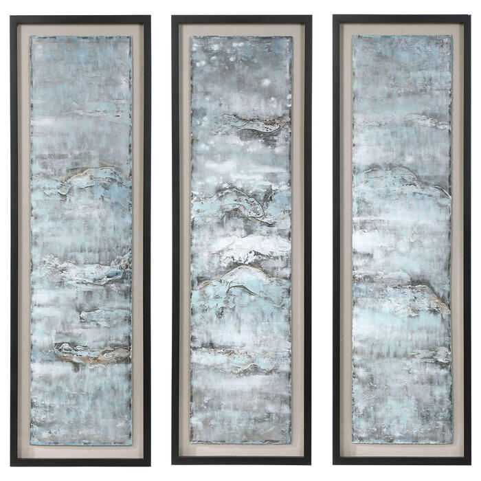 Uttermost - Ocean Swell Framed Prints, S/3, 3 Cartons