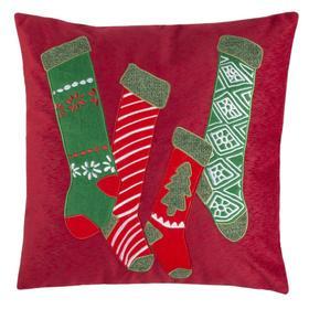 Jovie Pillow - Green / Red