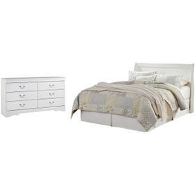 Queen Sleigh Headboard With Dresser