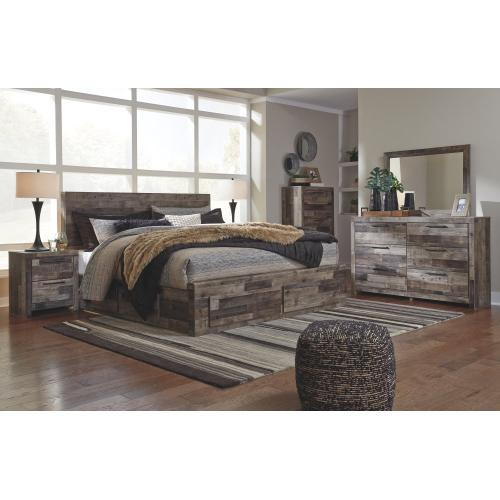 Derekson King Panel Bed With 4 Storage Drawers
