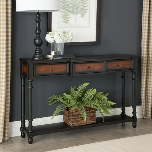 Black & Brown Two Tone Console Table