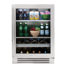 24 Inch Stainless Glass Door Right Hinge Undercounter Beverage Center