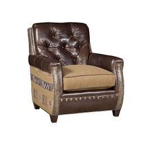 Wyatt Leather Fabric Chair, Wyatt Leather Ottoman