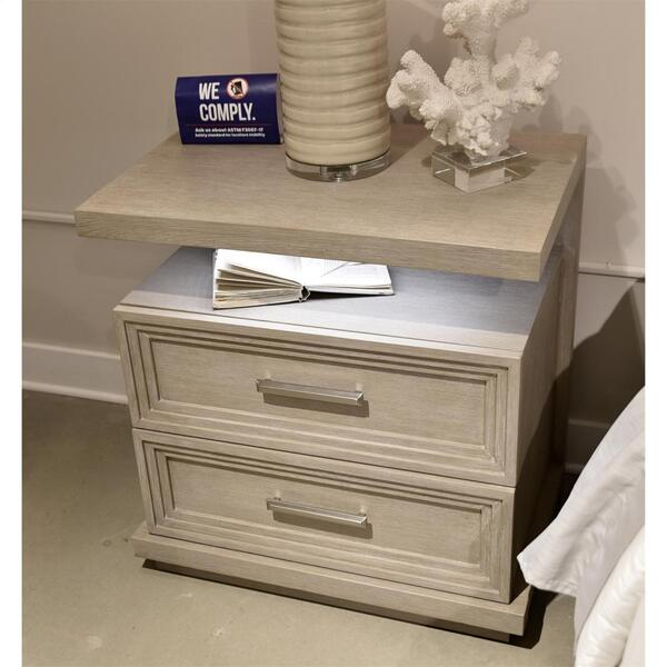 See Details - Cascade - Two Drawer Nightstand - Dovetail Finish