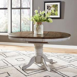 Oval Pedestal Table Base- White