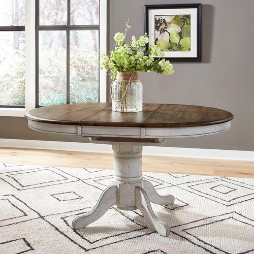 Oval Pedestal Table Base- White