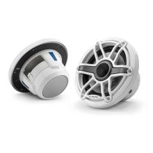 View Product - 6.5-inch (165 mm) Marine Coaxial Speakers, Gloss White Trim Ring, Gloss White Sport Grille
